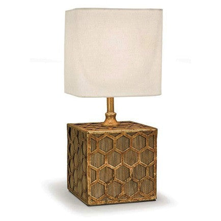 Gold Honeycomb Mini Cube Lamp