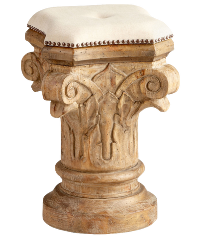Carved Column Stool