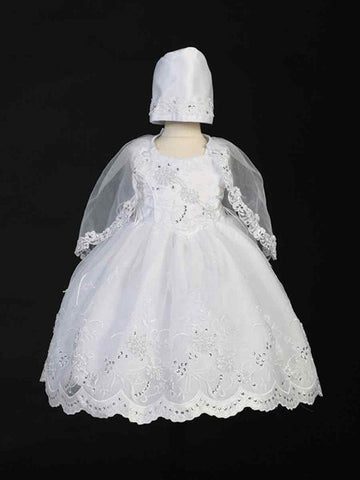 bcecae362e1dc White Baby Girl Christening Dress GCT 2155