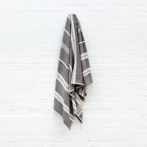 Aden Stripes Bath Towel Natural Stripe