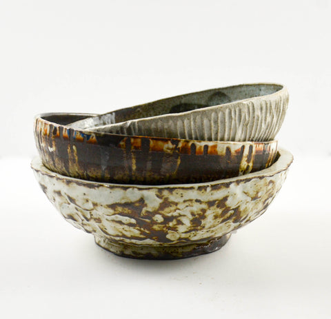 Hand Thrown Bowls, Assorted