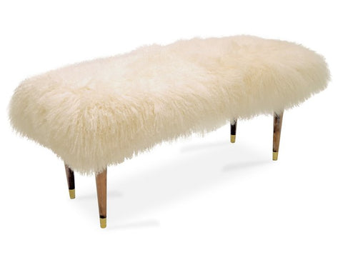 Natural Curly Lamb Bench