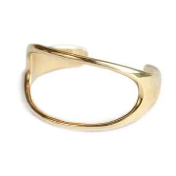 Open Oval Brass Cuff