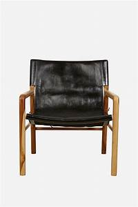 Black Leather Sling Chair