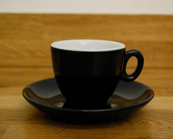 Inker Luna Black Espresso Cup and Saucer - (2.5oz)