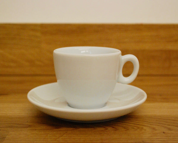 Inker Luna White Espresso Cup and Saucer - (2.5oz)