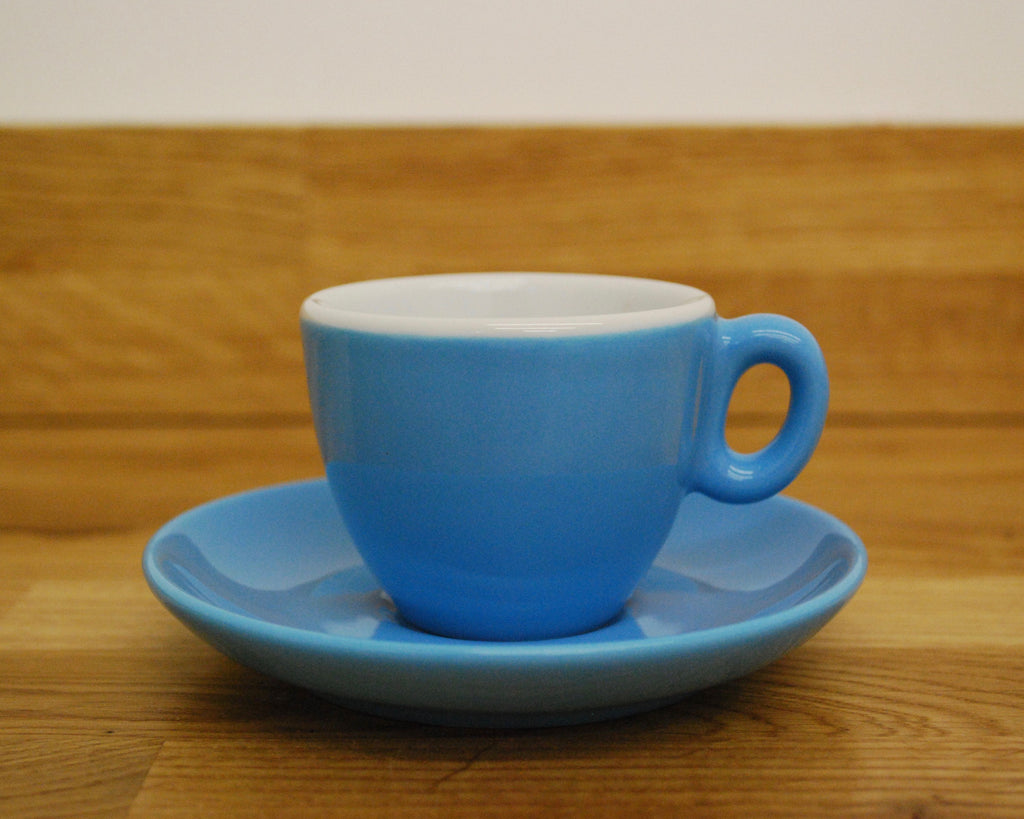 Inker Luna Blue Espresso Cup and Saucer - (2.5oz)