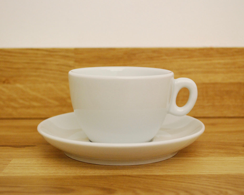 Inker Luna White Flat White Cup and Saucer - (6oz)