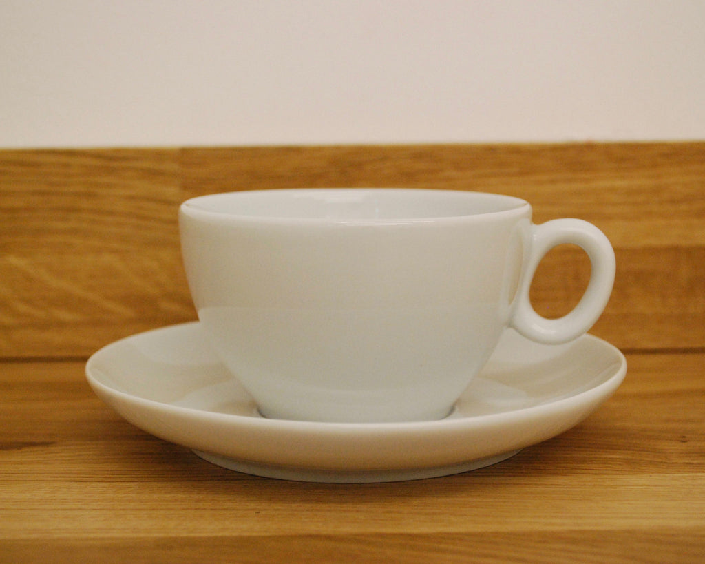 Inker Luna White Latte Cup and Saucer - (8.5oz)