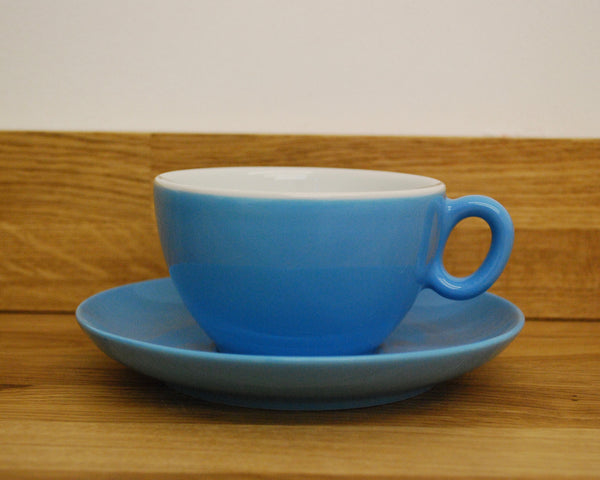 Inker Luna Blue Latte Cup and Saucer - (8.5oz)