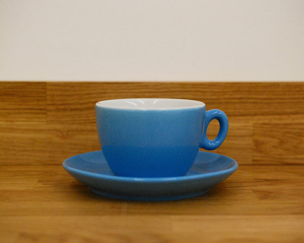 Inker Luna Blue Flat White Cup and Saucer - (6oz)