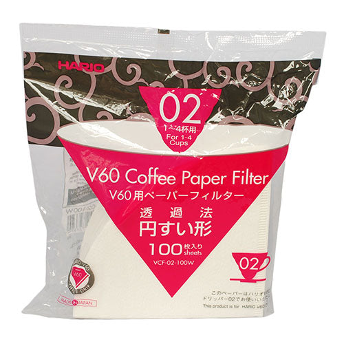 Hario - V60 - Filters Bleached x 100 (Size 02)