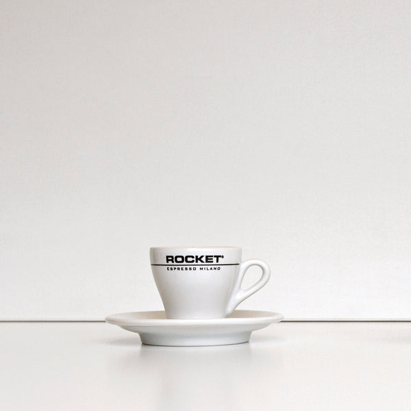 Rocket - Branded Espresso Cups & Saucers -2.5oz (Box of 6)