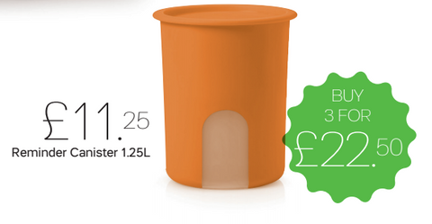Tupperware Man UK - One Touch Reminder Canister 1.25L