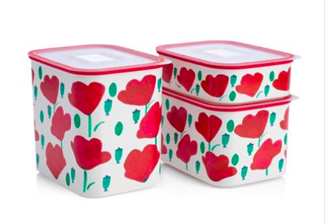 Tupperware Man UK - Baseline Canister set poppies