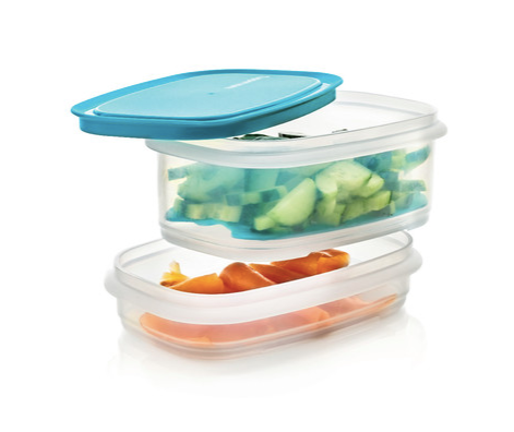 Tupperware Man UK - Cool Stackables Half Set with grid