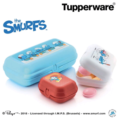Tupperware Man UK - Oyster Trio Smurfs