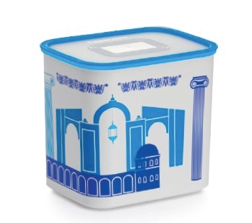 Tupperware Man UK - Baseline Canister 2.1L Tunisian blue and white