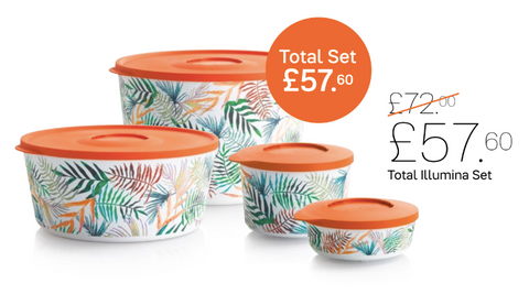 Tupperware Man UK - Illumina Exotic Canister set (4)