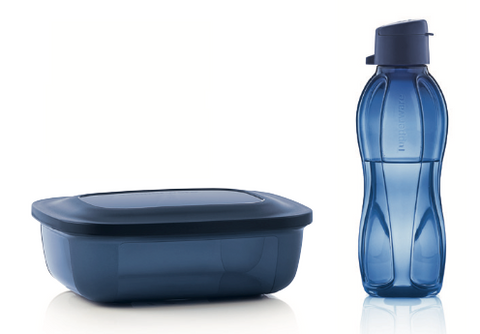 Tupperware Man UK - Cold lunch set dark blue