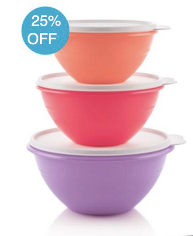 Tupperware Man UK - Wonderlier Bowls set (3)