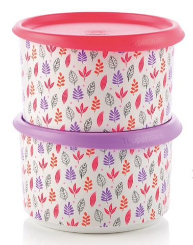 Tupperware Man UK - One Touch canister 940ml leaf (2)