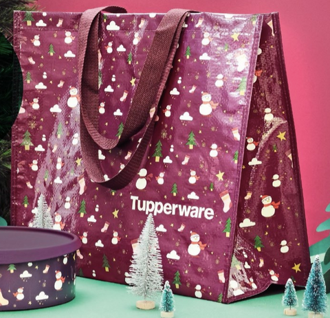 Tupperware Shopping Bag Snowman design