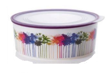 Tupperware Man UK - Baseline Cookie Canister Round 1.5L flowers