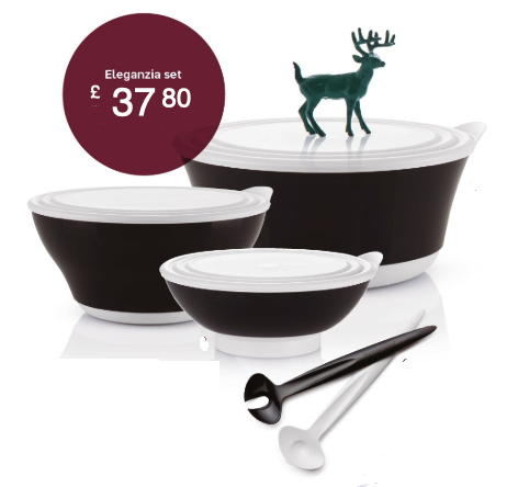 Tupperware Man UK - Eleganzia Bowl set black glam