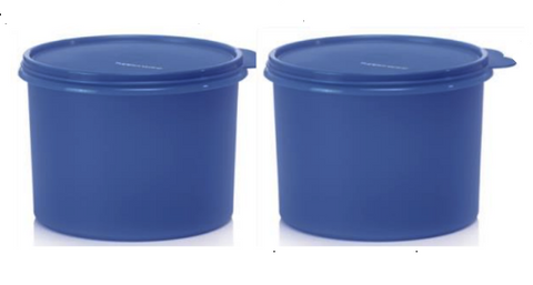 Tupperware Man UK - Round Canisters 1.7L raindrop blue (2)