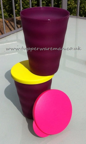Expressions Tumblers purple (2) - Tupperware Man UK