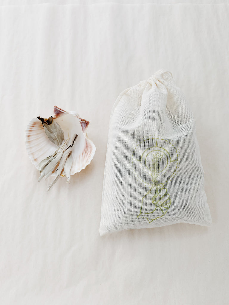 White Sage Leaves + Sea Shell from Meraki Nomad