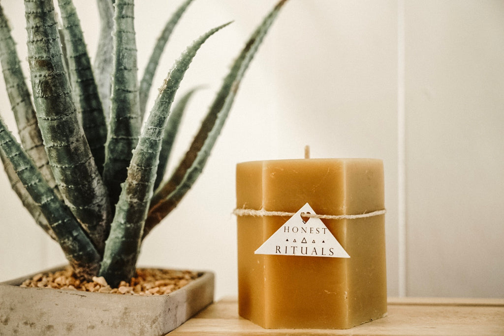 The Local Rose - Honest Ritual Beeswax Candle - The Local