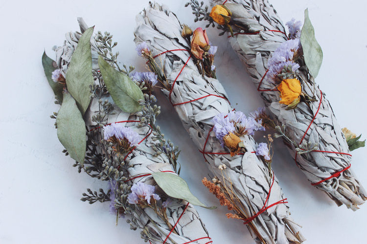 Sage and Dried Flower Smudges