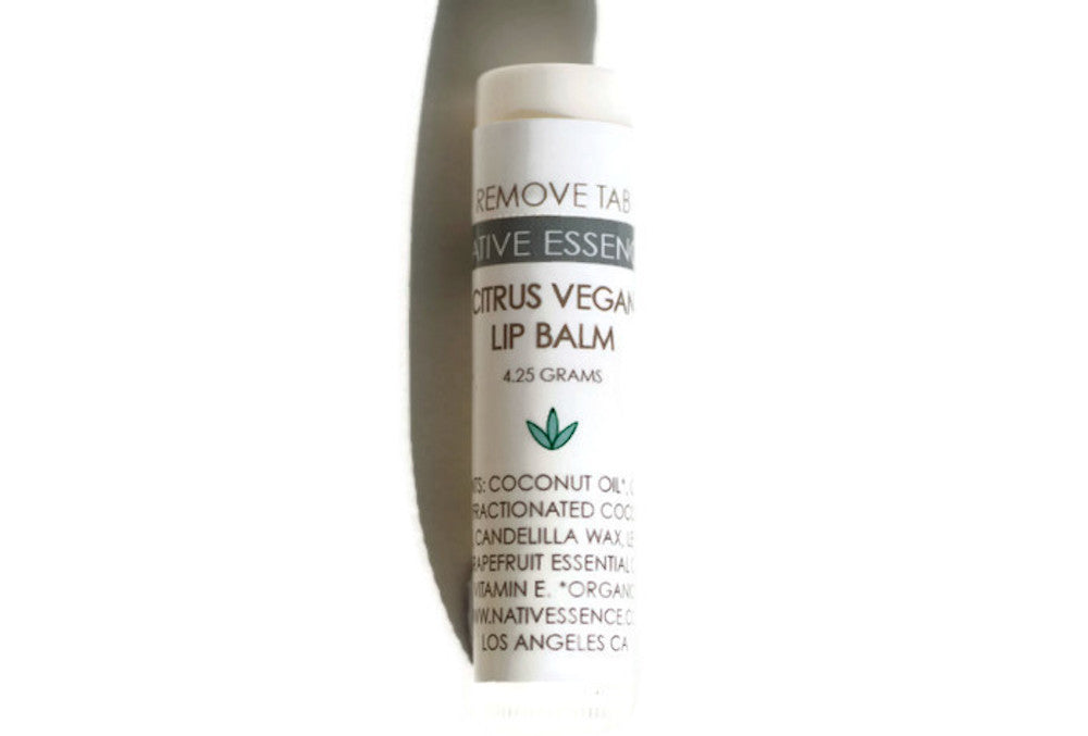 Vegan Citrus Lip Balm