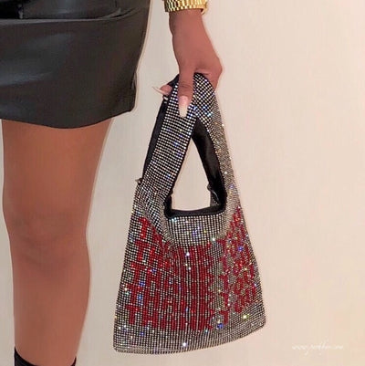 """Thank you"" crystal bag (Black)"