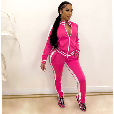 Milan sweater pants set (Pink)
