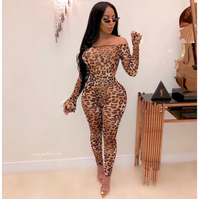 Feen leopard bodysuit legging set