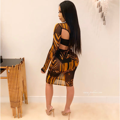 Swazi designer dress (Black/gold)