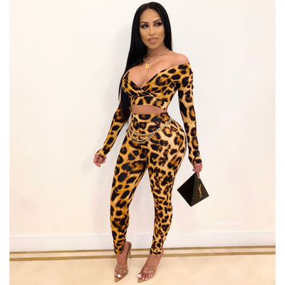 Sonya leopard legging set