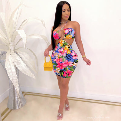 Julie mini dress (Tropical)
