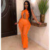 Claire mesh jumpsuit cover-up (Orange)