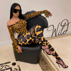 Coco leopard mix bodysuit legging set