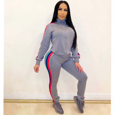 Vogue sweater pants set (Grey)