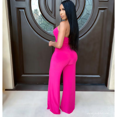 Michelle palazzo jumpsuit (Pink)