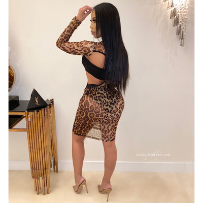 Swazi leopard dress