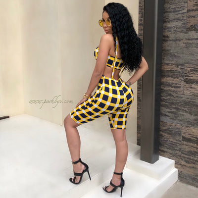 Remy Jumpsuit Set (Yellow)
