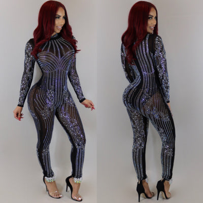 Diamond Kraze Jumpsuit (Black)