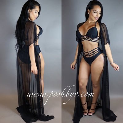 Heiress Mesh Cover-up (Black)