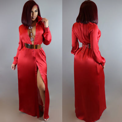 Silky Oasis Dress (Red)